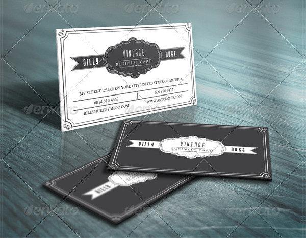 29 Vintage Business Card Templates Free Premium Download