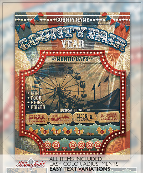 Vintage County Fair Carnival Branding Flyer