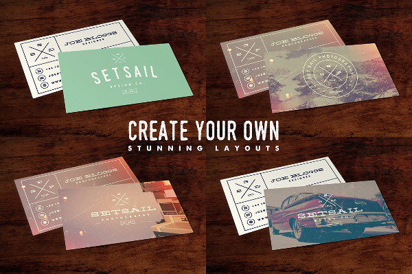 Vintage Hipster Business Card Template