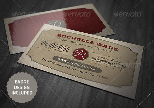 Unique Business Card Template with Vintage Style