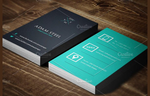 Vintage Style Flat Business Card Design Template