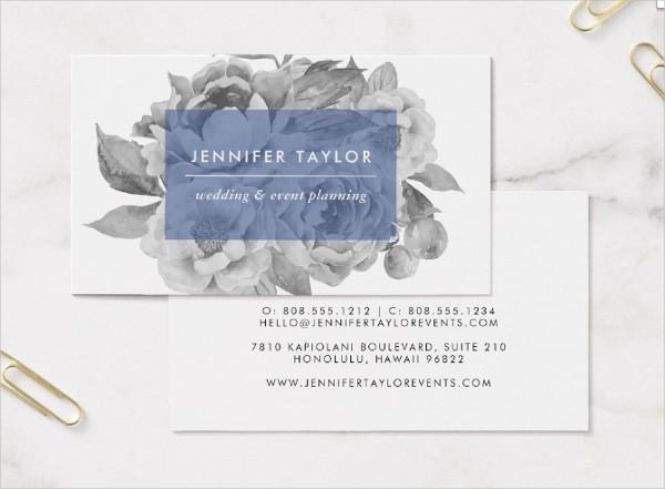 Vintage Wedding Planner Business Cards