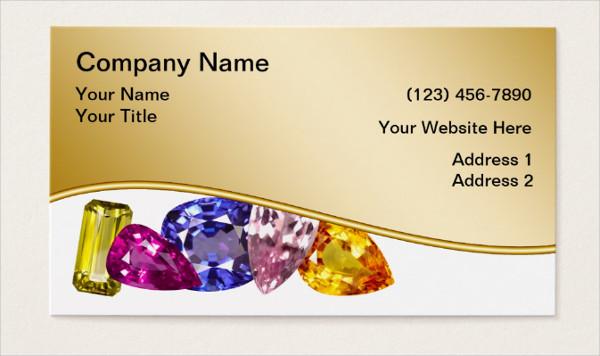 Vintage Jewellery Business Card