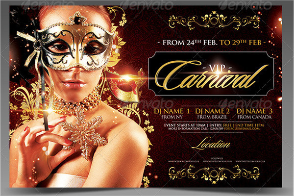 VIP Carnival Season Flyer Template