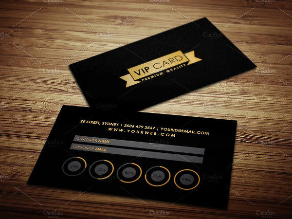 VIP Loyalty Card Template