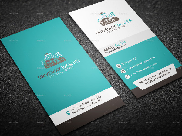 Print Ready Car Wash Business Cards