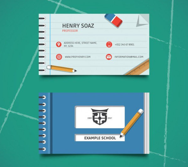 Visiting Card for Education Institute Free