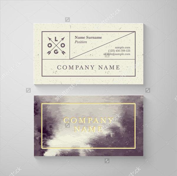 Watercolor Cloud Processing Business Card