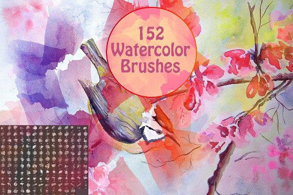 152 Grunge Splashes Brushes