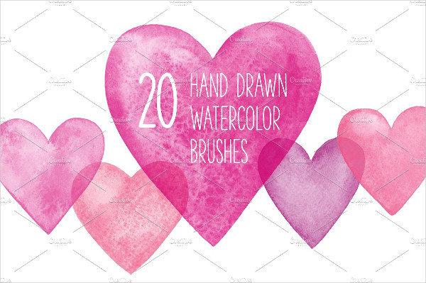 Hand Drawn Hearts Brushes