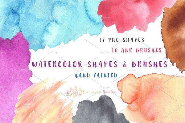 PNG & ABR Shapes Splotches Brushes