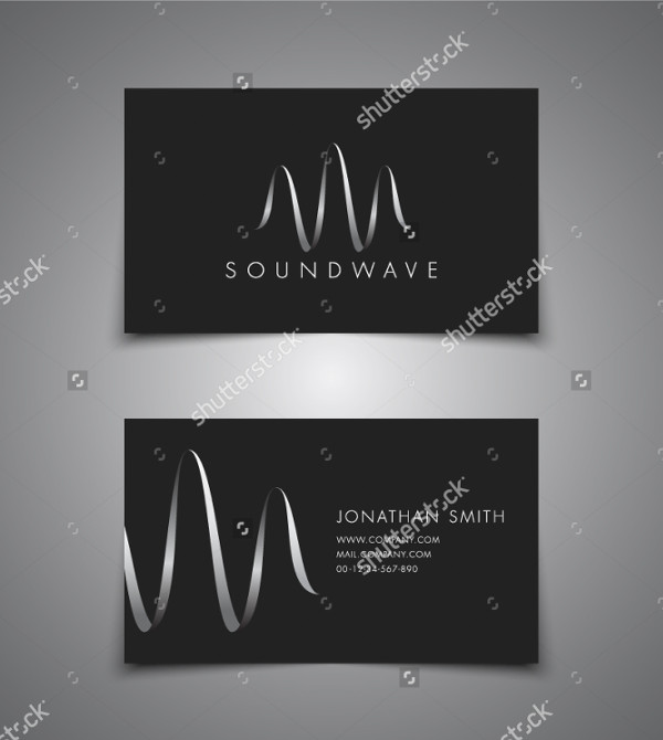 DJ Wave Music Business Card Template