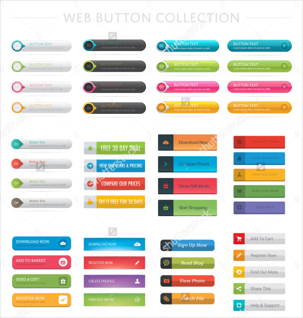 Graphic Web Button Collection