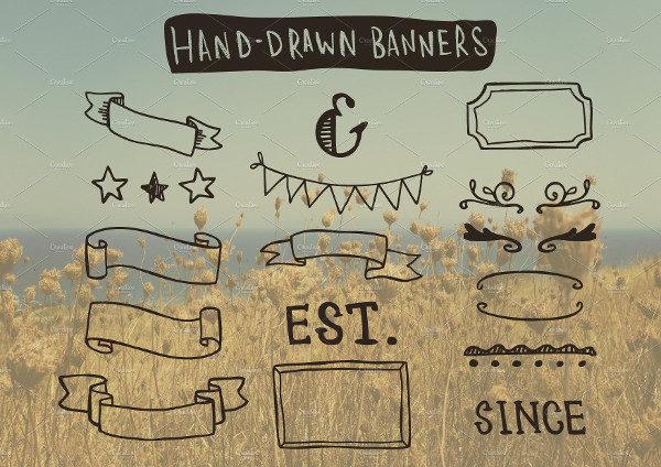 Wedding Hand Drawn Banners