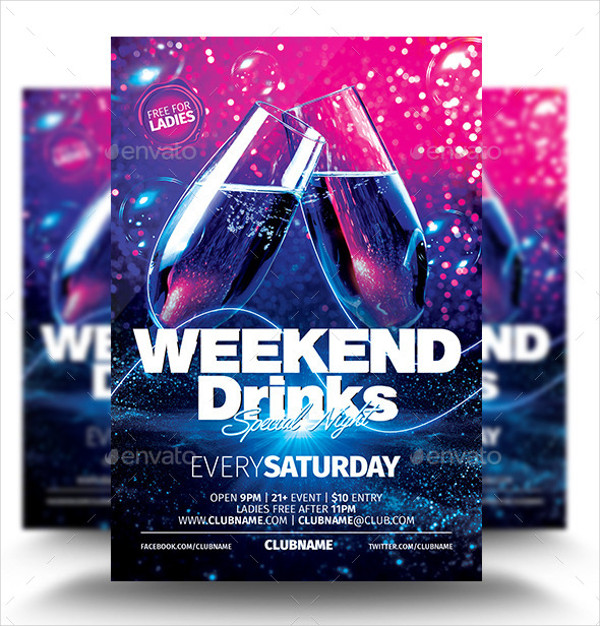 Weekend Drinks Party Flyer