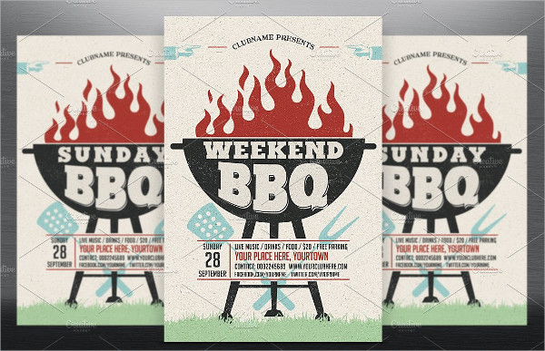 Weekend Holiday BBQ Party Flyer