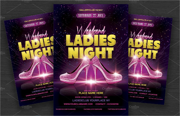 Weekend Ladies Night Party Flyer