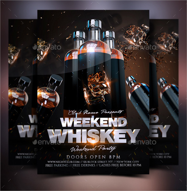 Whiskey Weekend Party Flyer Template