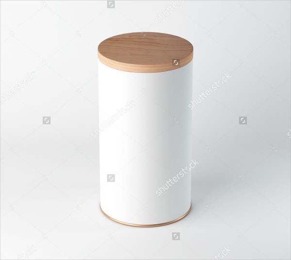 White Blank Tin Can mock-Up