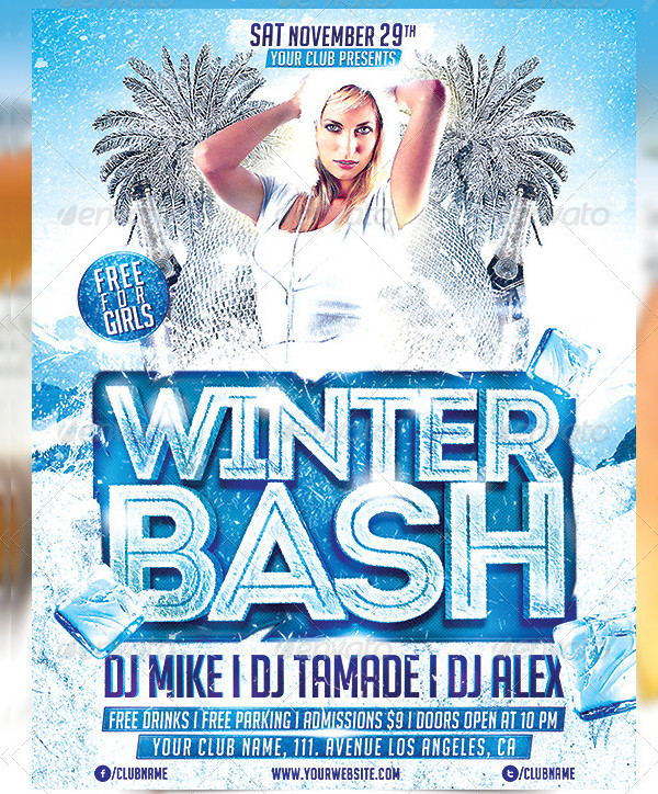 Winter Bash Party Promotion Poster