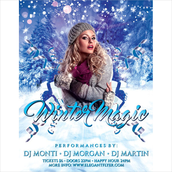 Winter Magic Party Flyer