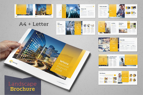 Wizzy Annual Report Horizontal Brochure