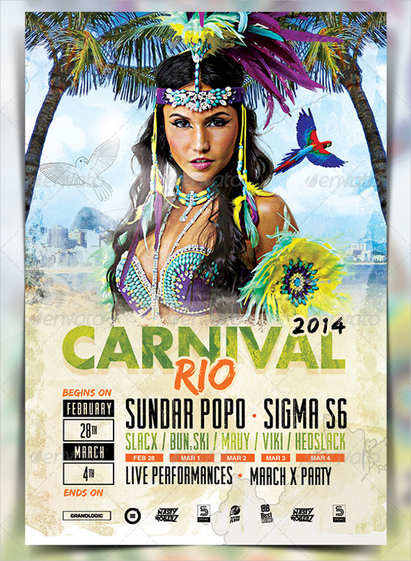 Carnival Party Promotion Flyer Template