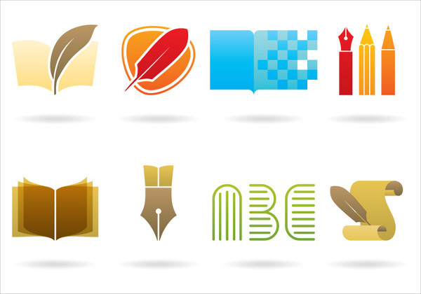 Writing &Library Logos Free Download