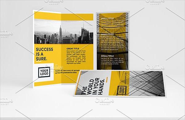 Yellow Architecture Tri-Fold Brochure Template