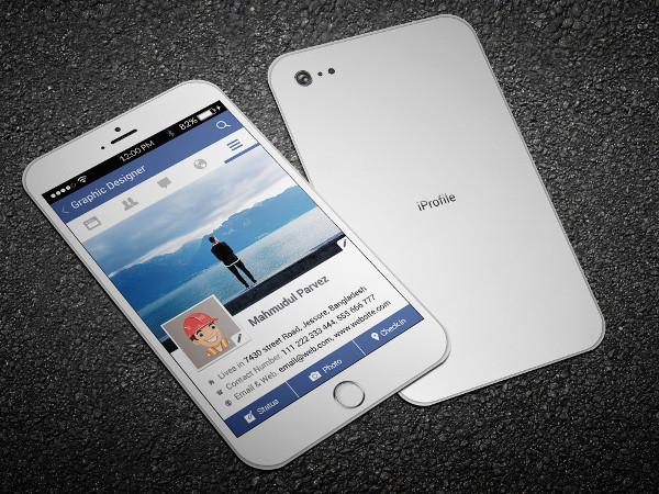 iPhone Facebook Business Card