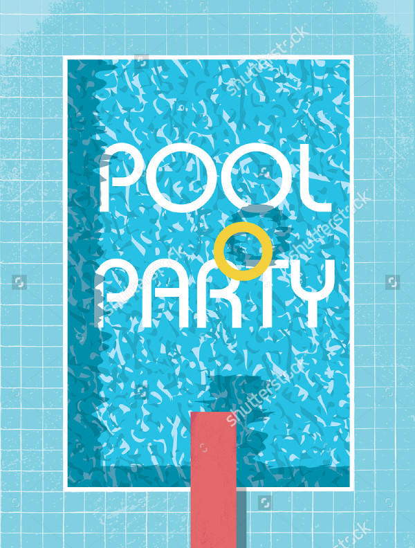 Pool Party Invitation Flyer or Poster