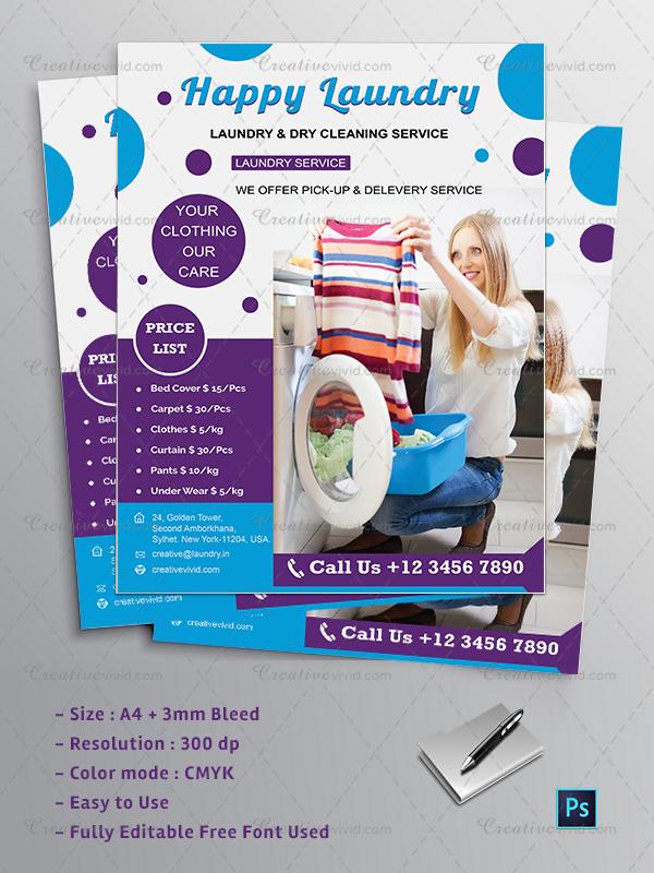 new laundry flyer design