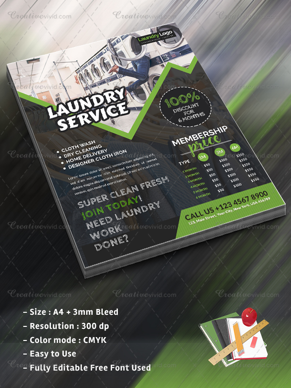 19  laundry flyer templates