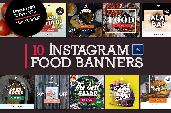 10 Instagram Food Banners