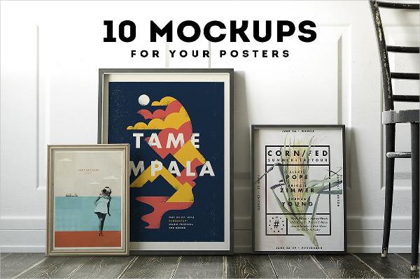 10 Poster Frame Mockup Set