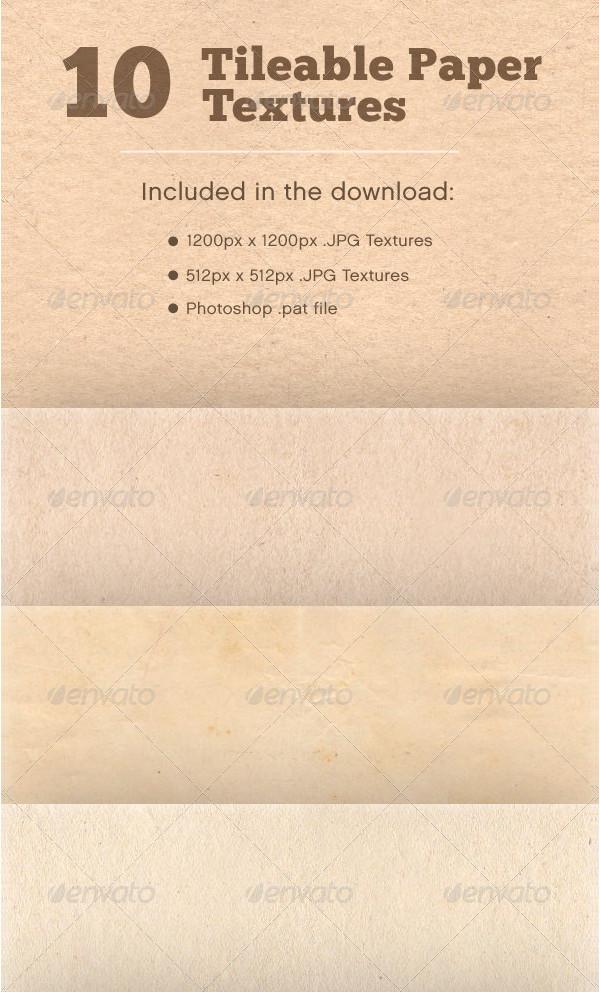10 Tileable Paper Textures