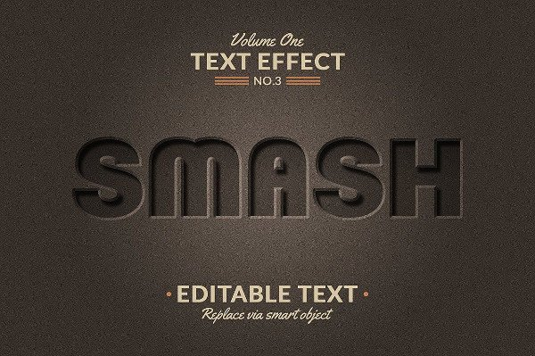 3 D Text Effect Mockup Free Download