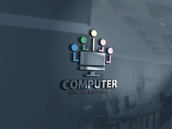 3D Computer Services Logo Template