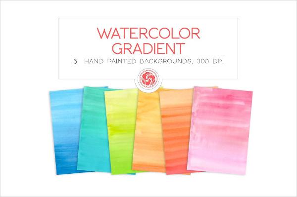 6 Gradient Watercolor Backgrounds
