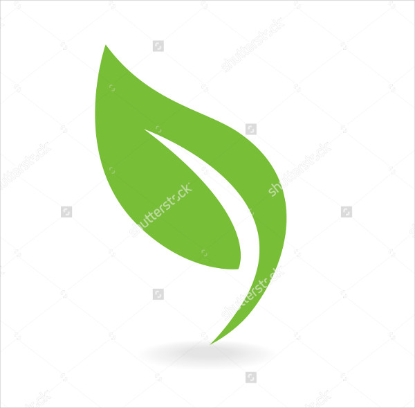 Eco Icon Green Leaf Vector Illustration