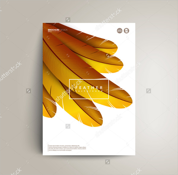 Abstract Exotic Bird Feather Flyer