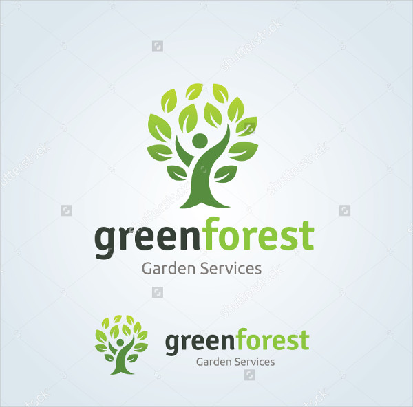 Vector Logo Template for Forest
