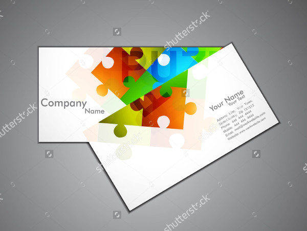 Abstract Puzzle Game Business Card