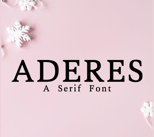Aderes A Serif Font Family