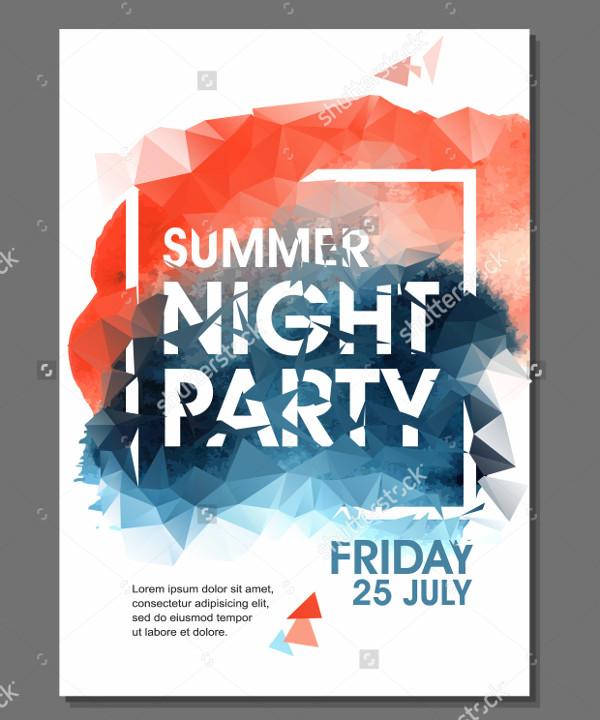Summer Night Party Advertising Flyer