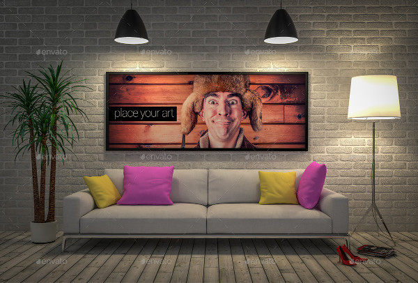 Advertising Space Interior Mock-up Mix
