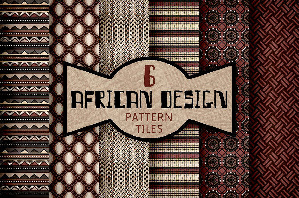 African Textile Design Pattern