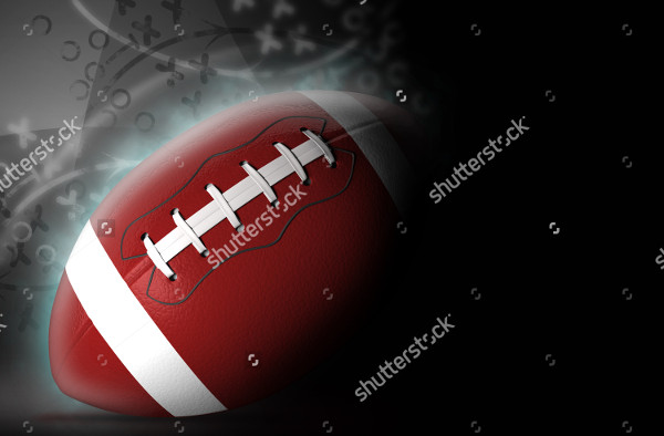 American Football Background 3d Illustration