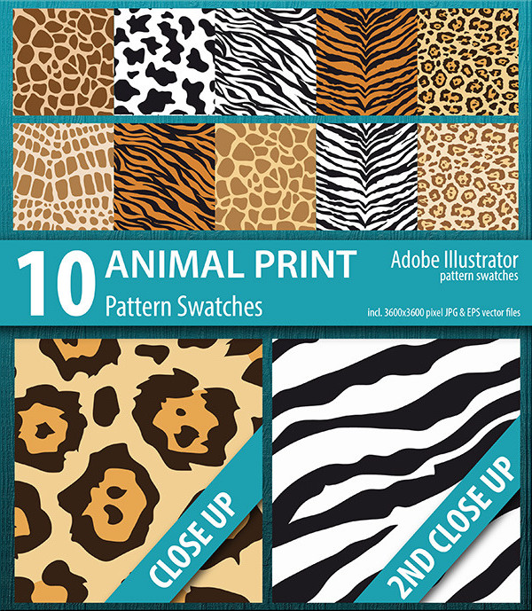 Animal Print Pattern Swatches