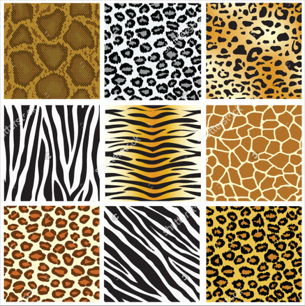 Animal Skin Seamless Patterns Set Vector